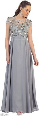 NEW-SHORT-SLEEVE-MOTHER-OF-THE-BRIDE-GROOM-GOWN-FORMAL-EVENING-DRESS-PLUS-SIZE