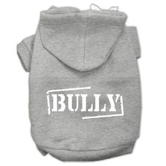 Bully Screen Printed Pet Hoodies Grey Size XL (16)