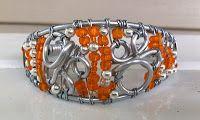 Wire bracelet and earrings