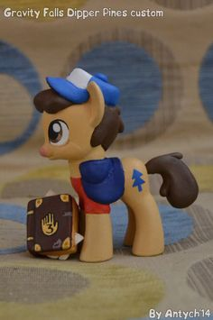 #897249 - artist:antych, custom, dipper pines, gravity falls, photo, ponified, safe, solo, toy - Derpibooru - My Little Pony: Friendship is Magic Imageboard