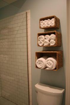 Basket towel shelves