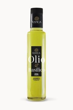 Olio extravergine aromatizzato al basilico 100%italiano su www.rancatartufi.it Water Bottle, Drinks, Water Bottles, Drink, Beverage, Drinking