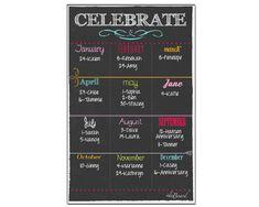 Dry Erase Magnet, Magnet for Tracking Birthdays, Dry Erase Calendar on Etsy, $21.99