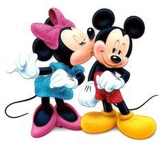 Amazon.com: Minnie Mouse kissing Mickey Mouse Disney Iron On ...