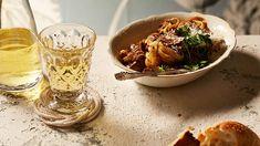 Pasta ribbons with chicken liver sauce (tajarin con fegatini) recipe : SBS Food Roast Recipes, Oven Recipes, Quick Recipes, Sauce Recipes, Cooking Recipes, All Recipes Chicken, Recipe Chicken, Ribbon Pasta, Truffle Pasta