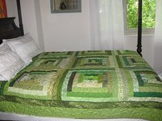 beautiful courthouse steps green quilt