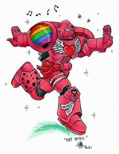 Humor, Poof Patrol, Rainbow Warriors, Space Marines