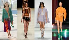 If you thought the fashion pack was done with its '70s-inspiration love affair, you'd be wrong. Jonathan Saunders, Alberta Ferretti, Rebecca Minkoff, and Olivier Rouesteing all sent pieces made of suede down the runway, one of the decade's most-loved fabrics.   - ELLE.com