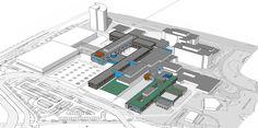 Masterplan en inrichtingsplan buitenruimte voor het ziekenhuisterrein van het…