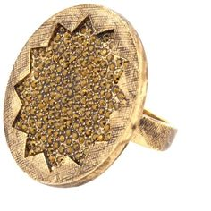 NWT {House of Harlow 1960} Pave Sunburst Ring Gorgeous and sparkly oversized costume ring with gold pave crystals. Size 6. New in pouch. Offers always welcome! House of Harlow 1960 Jewelry Rings