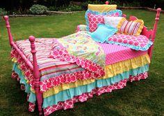 Striped Kumari Garden Girl's Bedding