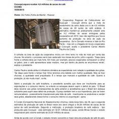 """Conselho Nacional do Café – CNC SCN Quadra 01, Bl. """"C"""", Ed. Brasília Trade Center, 11º andar, sala 101 - CEP 70711-902 – Brasília (DF) Assessoria de Comun. http://slidehot.com/resources/clipping-cnc-10062015-versao-de-impressao.23097/"""