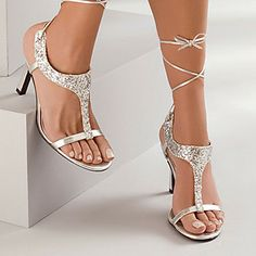 Love these silver heels!