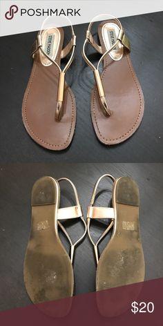 Steve Madden Hamil Sandals Rose Gold 7.5 Good condition. Steve Madden Shoes Sandals