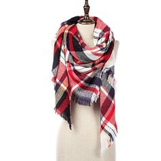 Natural Feelings Soft Plaid Tartan Fashion Blanket Pashmina Scarf Shawl Wraps *** You can find more details by visiting the image link.