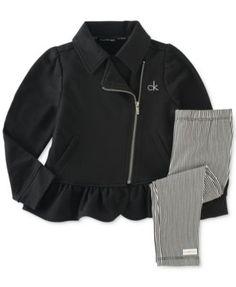 Calvin Klein Baby Girls' 2-Piece Jacket & Leggings Set