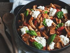 Vegetarian pasta at its best. I always have a second helping.