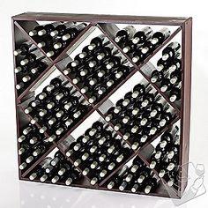 For behind the window-Jumbo Bin 120 Bottle Wine Rack (Mahogany)