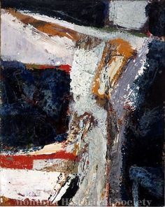 X1965.06.10, Painting 1952, 1952, George McNeil, oil on paperboard
