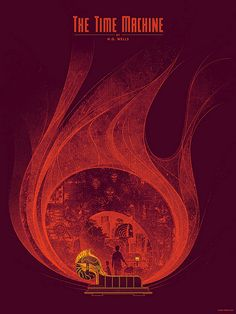 HG Wells Screen Printed Poster by Kevin Tong