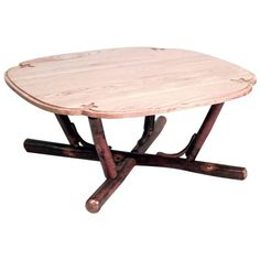 American Rustic Old Hickory '20th Century' Square Shaped Coffee Table   From a unique collection of antique and modern coffee and cocktail tables at https://www.1stdibs.com/furniture/tables/coffee-tables-cocktail-tables/