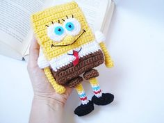 Ravelry: Crochet SpongeBob Pattern, Amigurumi SpongeBob Pattern, PDF Pattern pattern by AllSoCute Seren