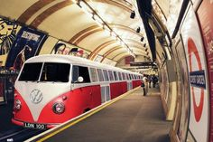 New London Underground VW Camper Tube Train Poster | eBay