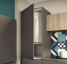 Boiler, Cupboard, Kitchen Decor, Shelves, Interior Design, Inspiration, Pipes, Home Decor, Cover