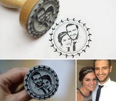 Hochzeitskarten - Personalisierter Fotostempel - ein Designerstück von Fotogruesse bei DaWanda