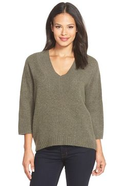 White + Warren Plush Cashmere V-Neck Sweater available at #Nordstrom