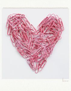 pink paperclip, office supplies, pink heart, clip art, papers, happy heart, paperclip heart, offic suppli, paper clip