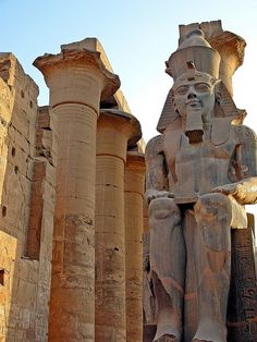 Statue of Amenhotep III, Luxor, Egypt