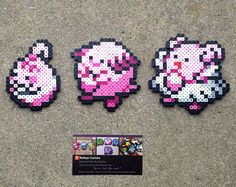 Happiny/Chansey/Blissey - Pokemon Perler Bead Sprites