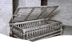 "The Utica Crib for uncooperative patients at insane asylums, and later, at (somewhat) more legitimate ""institutions"". I dunno. Are nylon restraints around the body tying you to a bed really that more human?"