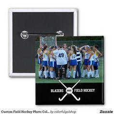 Custom Field Hockey Photo Collage Name Team Number Locket Necklace - Custom field hockey car magnets