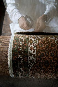 Kashmir carpet weavers - saw this being done when we were in India. It's incredibly skillful and so beautiful.