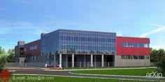 Торгово-складской комплекс: архитектура, 3 эт | 9м, минимализм, 5000 м2 и более, фасад - сэндвич-панель, торгово-развл. центр, здание, строение, фасад - стекло #architecture #3floors_9m #minimalism #5000m2иболее #facade_sandwichpanel #shoppingandentertainingcenter #highrisebuilding #structure #facade_glass arXip.com