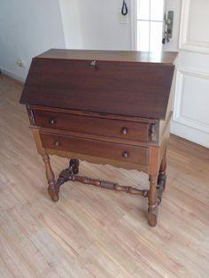 Escrivaninha Estante Antiga Madeira Maciça Muito Conservada - R$ 999,00 no MercadoLivre