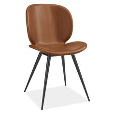 Room & Board - Gwen Chair in Synthetic Leather - Modern Dining Chairs - Modern Dining Room & Kitchen Furniture Blue Dining Room Chairs, Ottoman In Living Room, Modern Dining Chairs, Office Chairs, Dining Area, Dining Table, Used Chairs, Metal Chairs, Cool Chairs