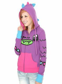 Hot Topic Hoodies for Girls | So So Happy Puff Purple Girls Zip Hoodie SKU : 915676 ONLINE EXCLUSIVE ...