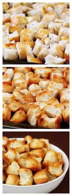 How To Make Homemade Croutons | gimmesomeoven.com #easy #tutorial #howto