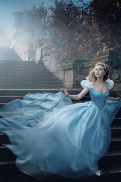 Disney Princess | we . love . laugh . kiss - Scarlett Johansson as Cinderella, Annie Leibovitz Photographer❤