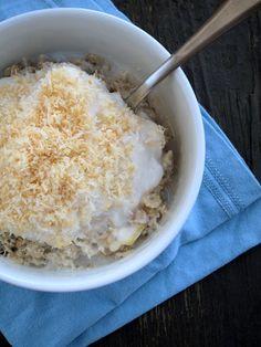 The Oatmeal Artist: Coconut Cream Pie Oatmeal Breakfast Snacks, Best Breakfast, Breakfast Recipes, Dessert Recipes, Breakfast Ideas, Quinoa Breakfast, Clean Breakfast, Breakfast Club, Breakfast Dishes