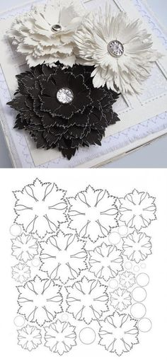 Paper or leather flowers sample
