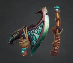 Fantasy Axe, Dillon Sommerville on ArtStation at https://www.artstation.com/artwork/daWZX