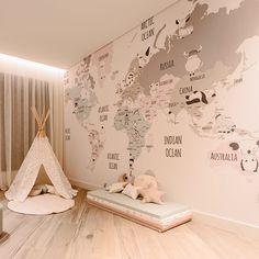 Little Hands Wallpaper - made by measure Baby Bedroom, Baby Boy Rooms, Nursery Room, Kids Room Wallpaper, Kids Bedroom Designs, Baby Room Design, Playroom Decor, Baby Room Decor, Bedroom Decor