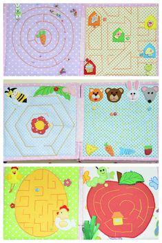 #BusyBooklabyrinths #Children'sQuiet #BookKidsquiet #books #Busybook,#quietbook, #activitybook, #bookforchildren #Abigbusy #montessoribook /