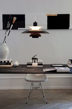 Louis Poulsen lamps presented in the beautiful home and studio of Tenka Gammelgaard