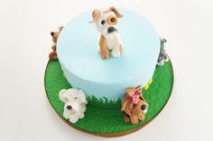 Tort z pieskami Birthday Cake, Desserts, Food, Tailgate Desserts, Deserts, Birthday Cakes, Essen, Postres, Meals