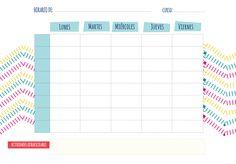 Plantilla horario escolar